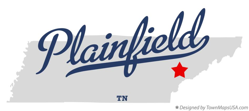 Map of Plainfield Tennessee TN