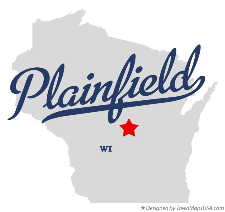 Map of Plainfield Wisconsin WI