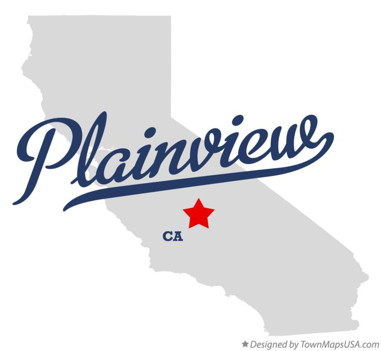 Map of Plainview California CA