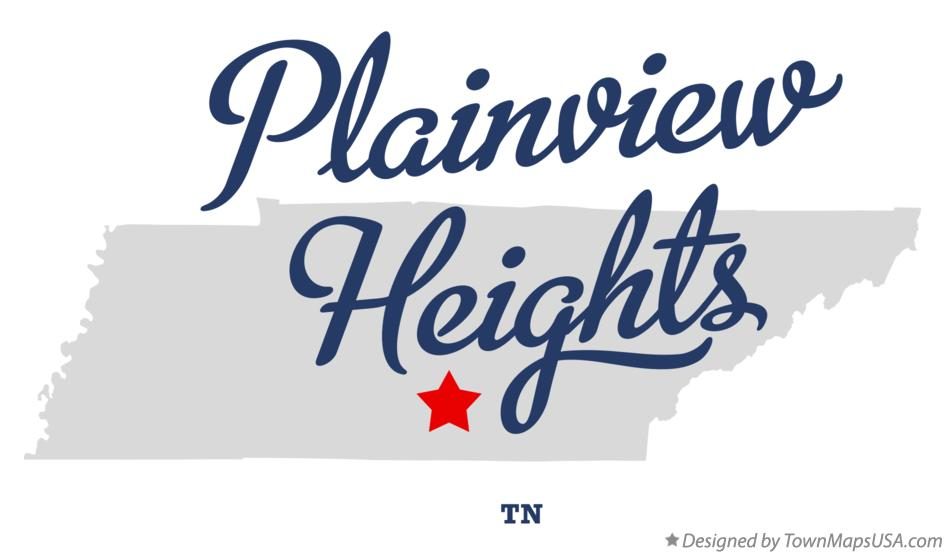 Map of Plainview Heights Tennessee TN