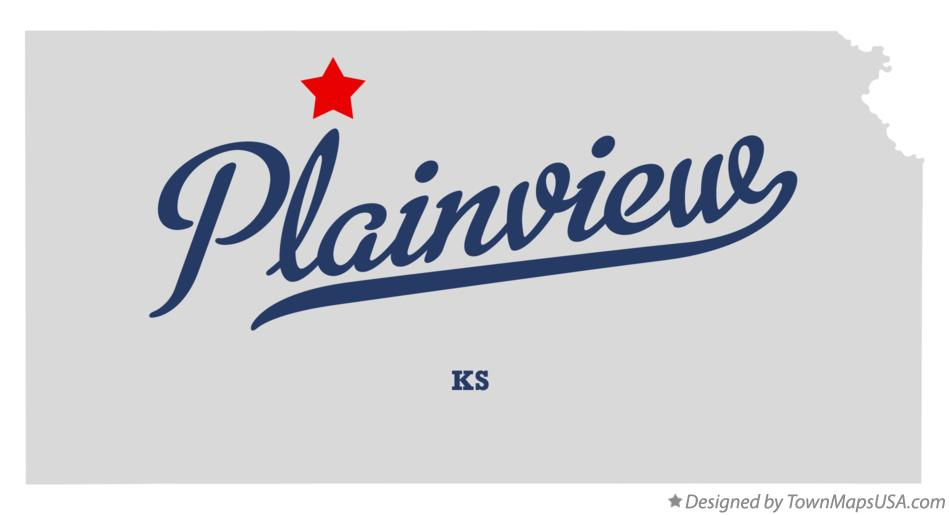 Map of Plainview Kansas KS