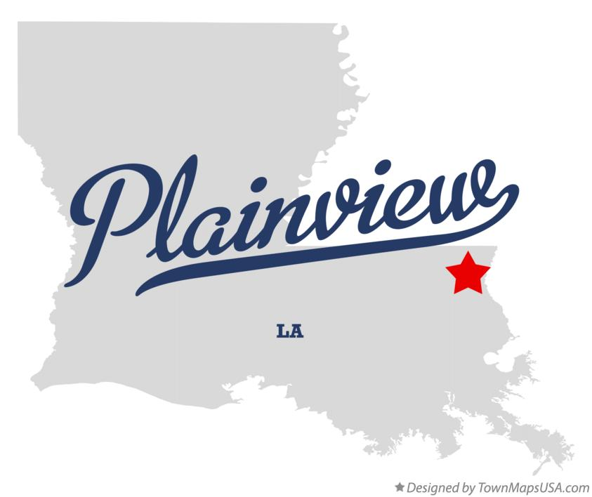 Map of Plainview Louisiana LA