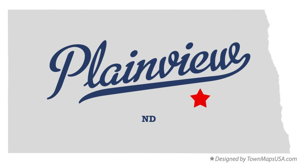 Map of Plainview North Dakota ND