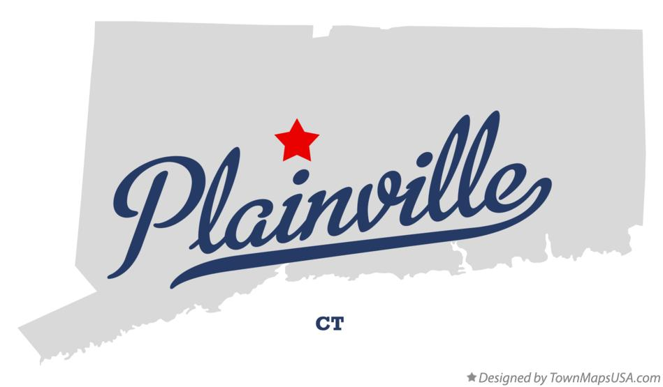 Map of Plainville Connecticut CT