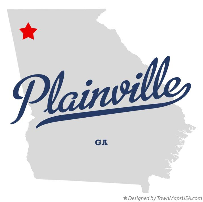 Map of Plainville Georgia GA