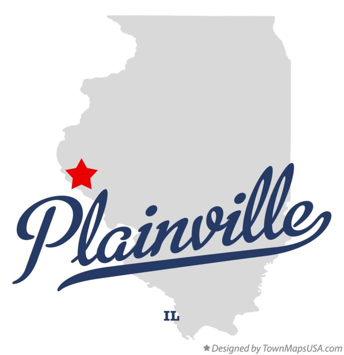 Map of Plainville Illinois IL