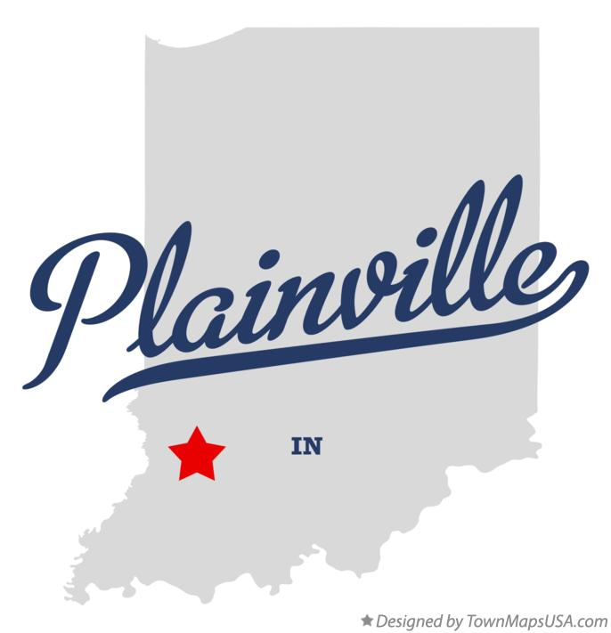 Map of Plainville Indiana IN