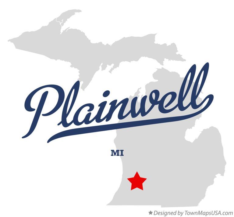 Plainwell Michigan Map.Map Of Plainwell Mi Michigan
