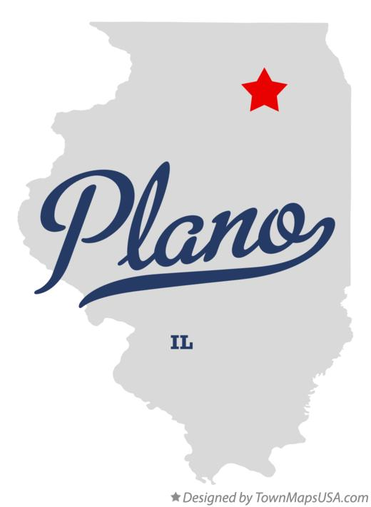 Map of Plano Illinois IL