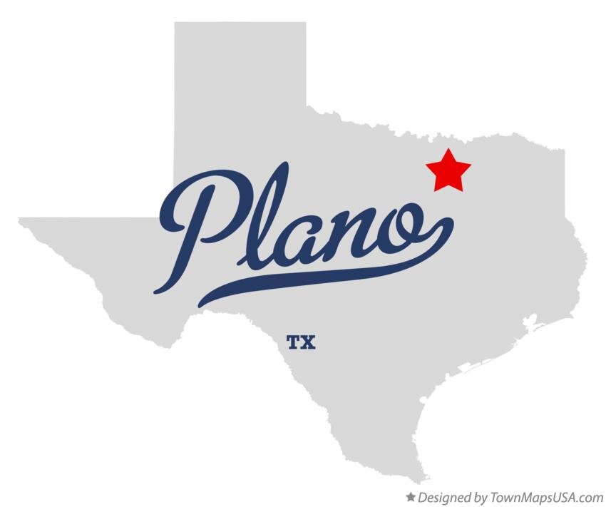 Map Of Plano Tx Texas