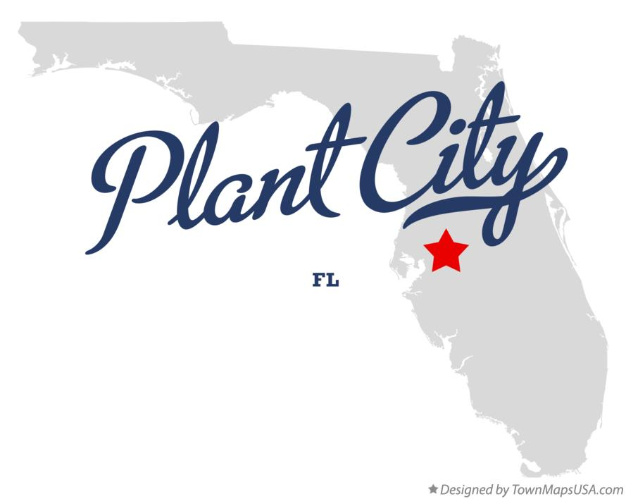 Map of Plant City Florida FL