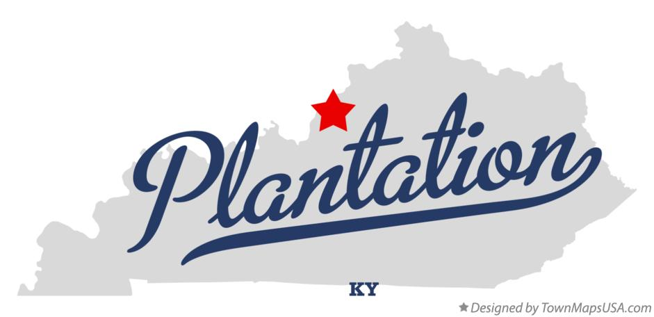 Map of Plantation Kentucky KY