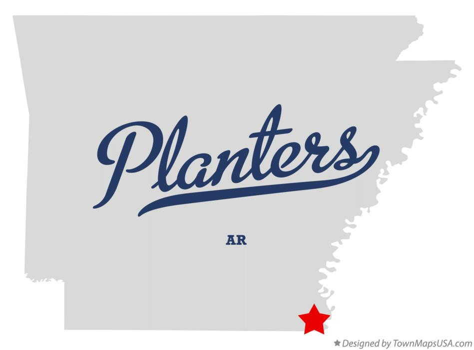 Map of Planters Arkansas AR