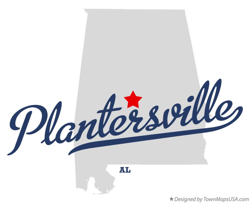 Map of Plantersville Alabama AL