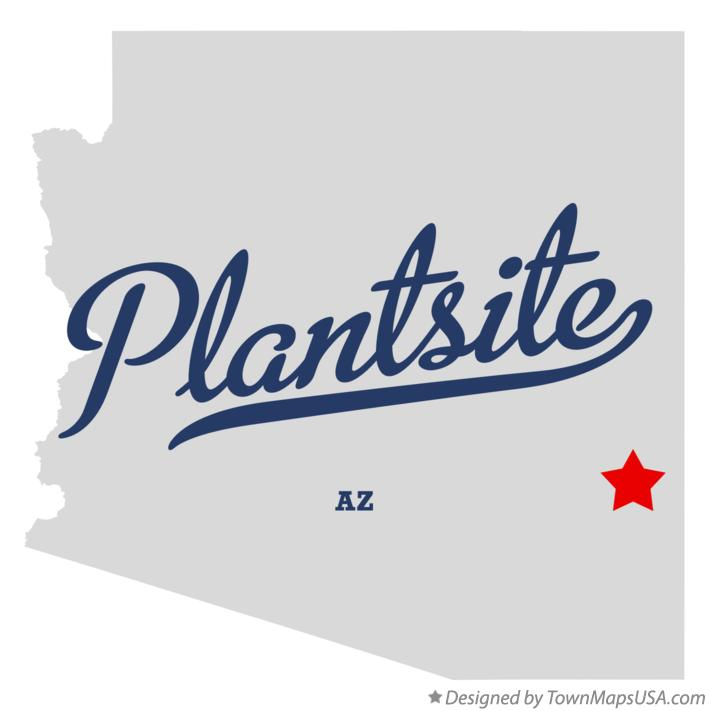 Map of Plantsite Arizona AZ