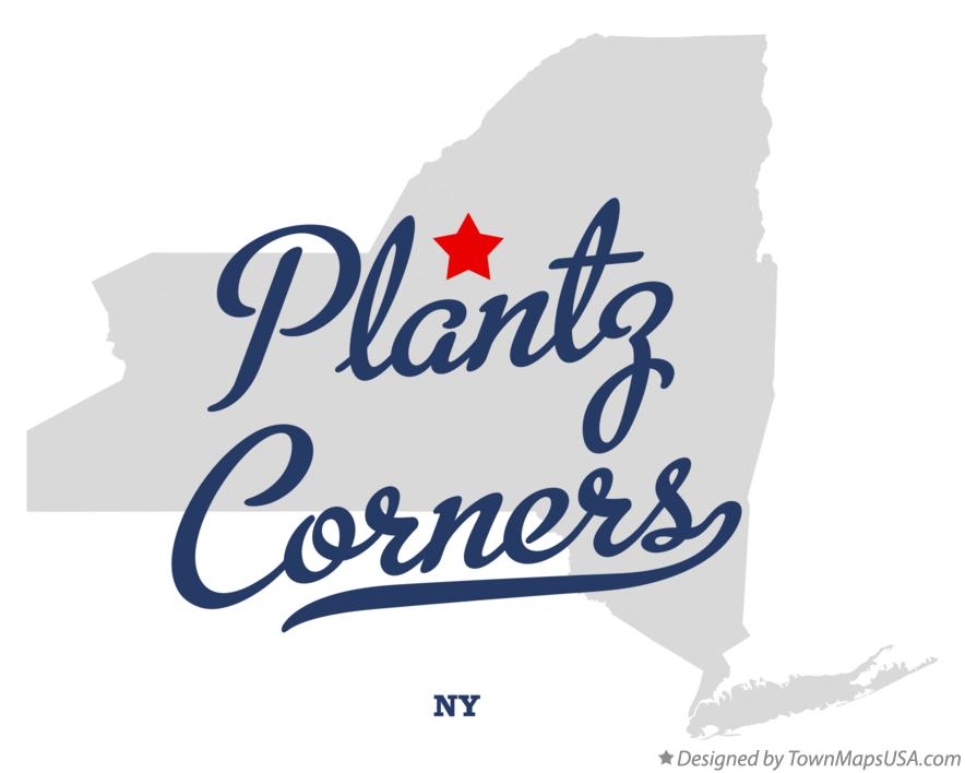 Map of Plantz Corners New York NY