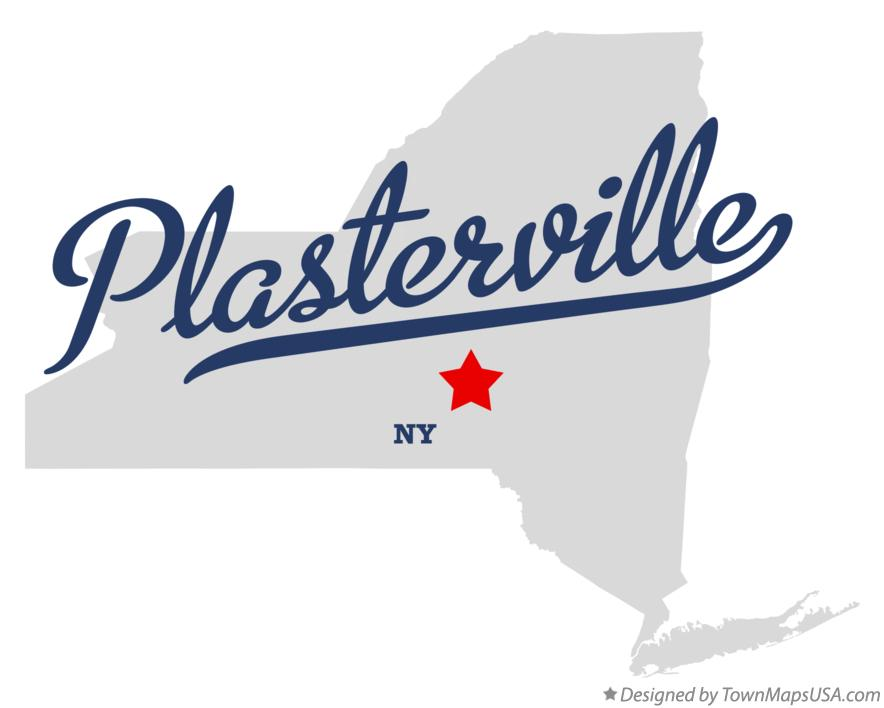 Map of Plasterville New York NY