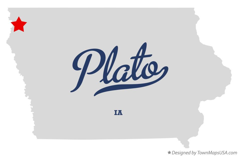 Map of Plato Iowa IA