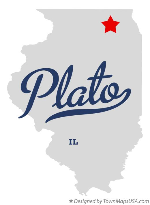 Map of Plato Illinois IL