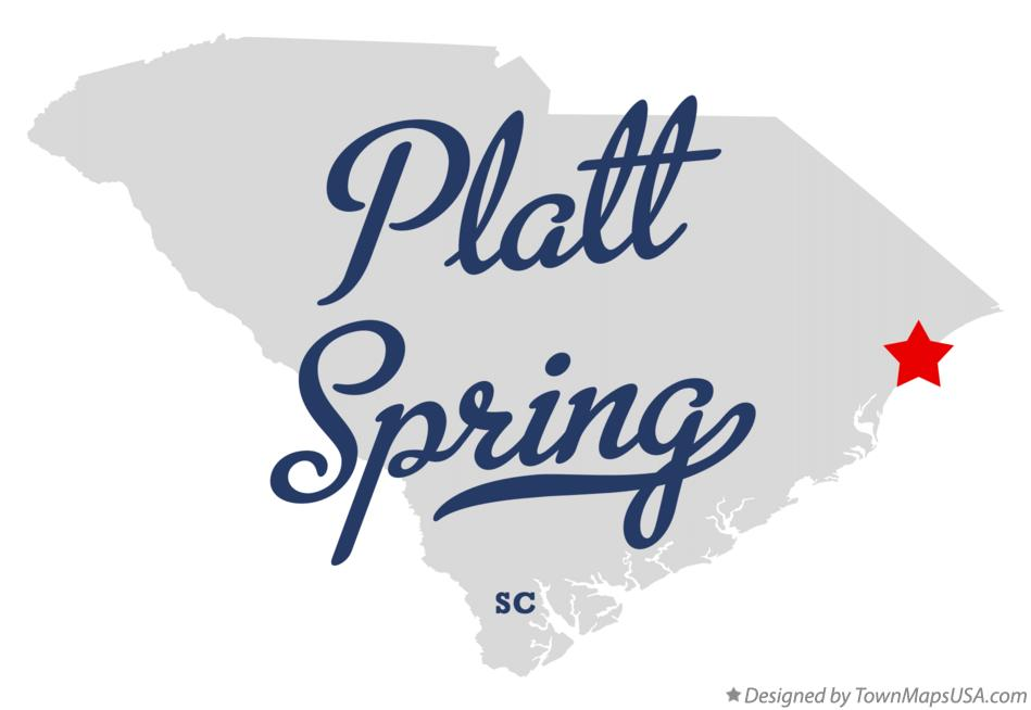 Map of Platt Spring South Carolina SC