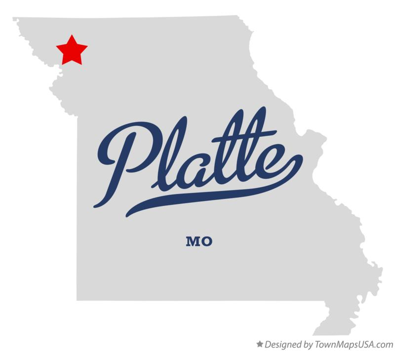 Map of Platte Missouri MO