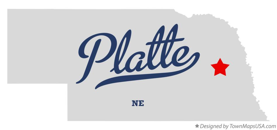 Map of Platte Nebraska NE