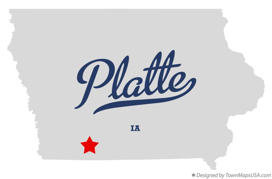 Map of Platte Iowa IA