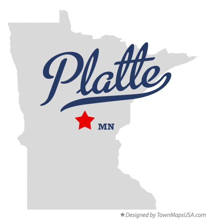 Map of Platte Minnesota MN