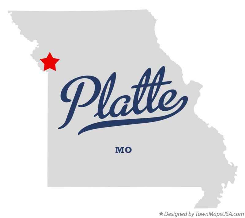 Ferrelview (MO) United States  city pictures gallery : Map of Platte, Clay County, MO, Missouri
