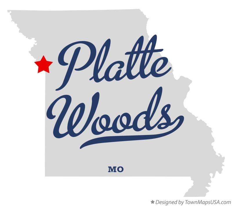 Map of Platte Woods Missouri MO
