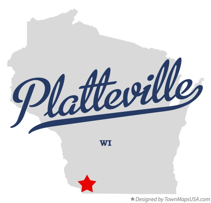 Map of Platteville Wisconsin WI