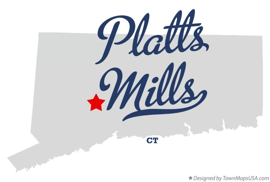 Map of Platts Mills Connecticut CT