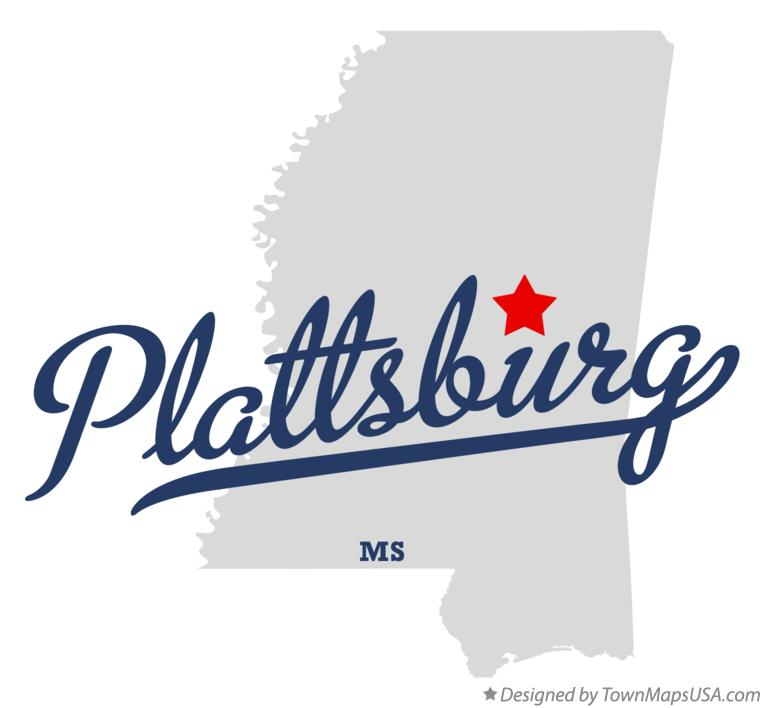 Map of Plattsburg Mississippi MS