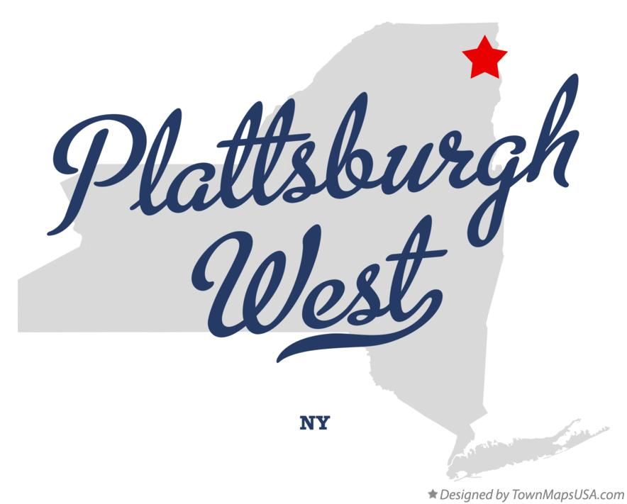 Map of Plattsburgh West New York NY