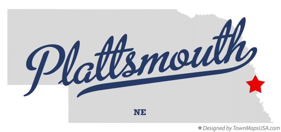 Map of Plattsmouth Nebraska NE