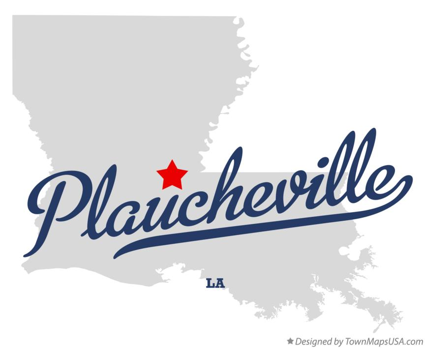 Map of Plaucheville Louisiana LA