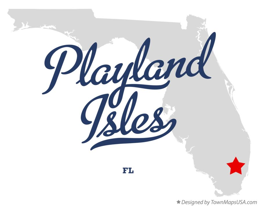 Map of Playland Isles Florida FL