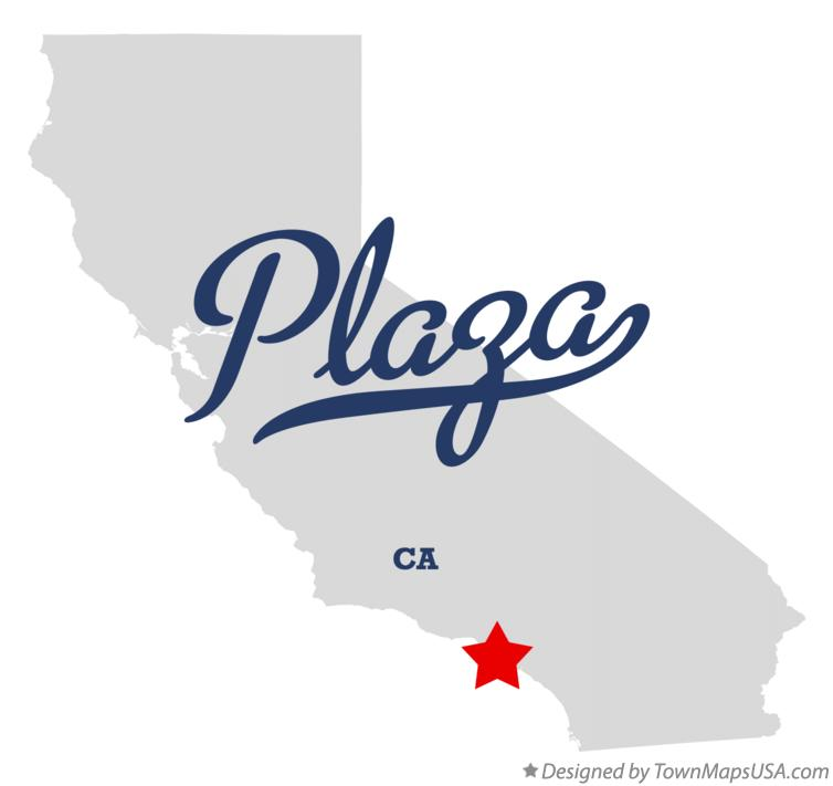 Map of Plaza California CA