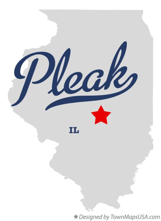 Map of Pleak Illinois IL