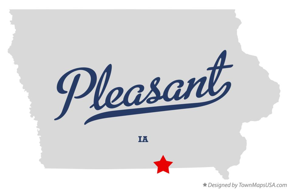 Map of Pleasant Iowa IA