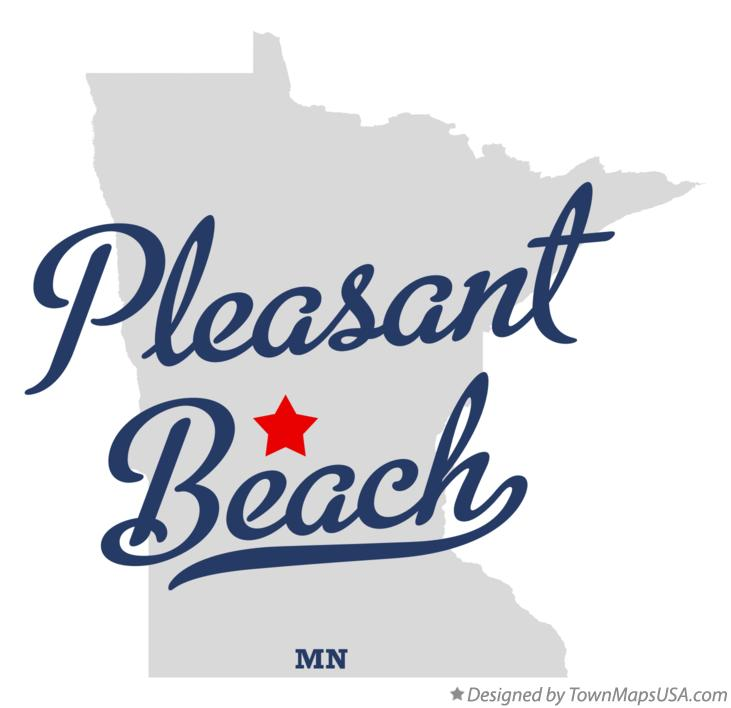 Map of Pleasant Beach Minnesota MN