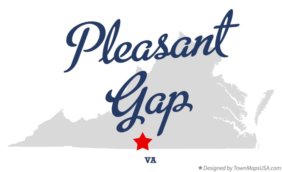 Map of Pleasant Gap Virginia VA