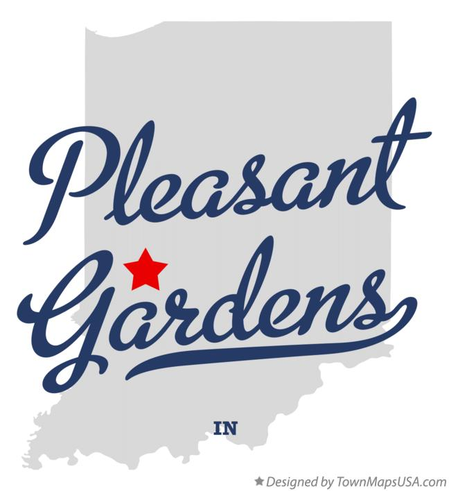 Map of Pleasant Gardens Indiana IN