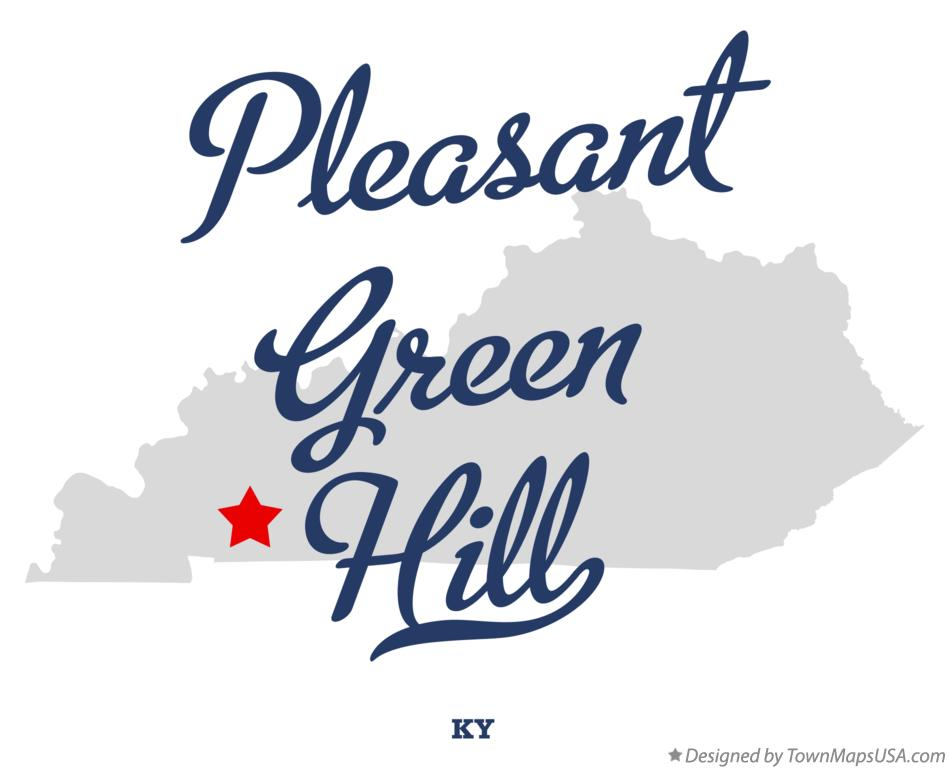 Map of Pleasant Green Hill Kentucky KY
