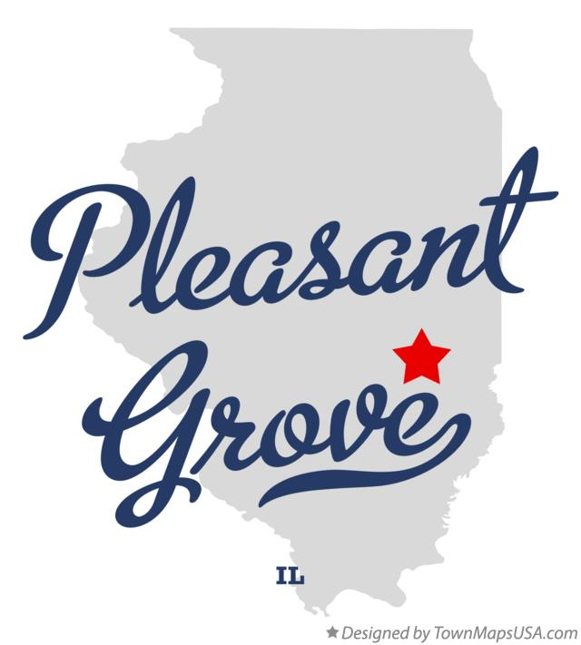 Map of Pleasant Grove Illinois IL
