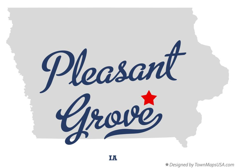Map of Pleasant Grove Iowa IA