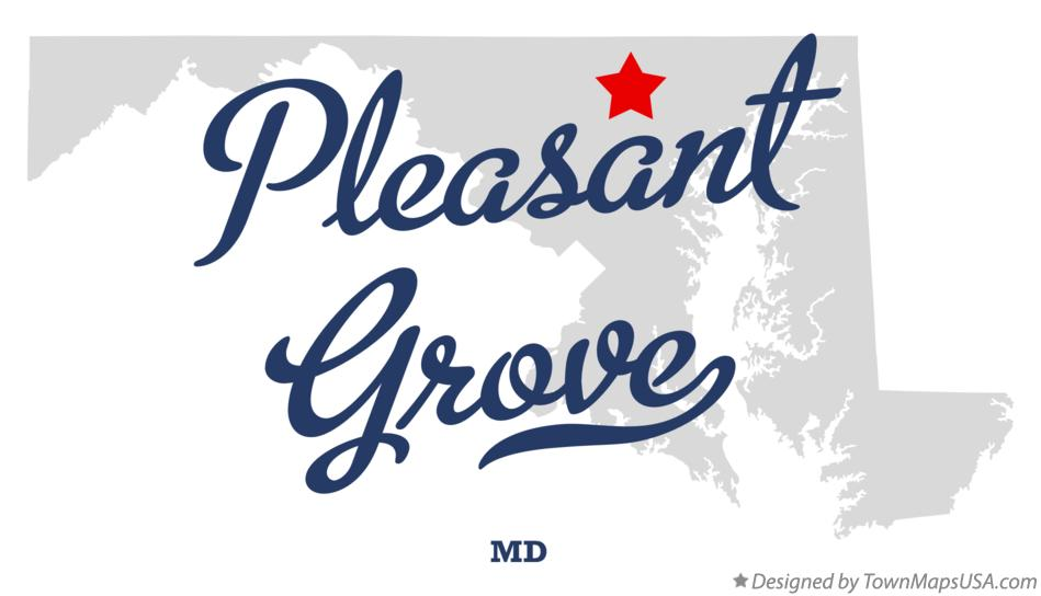 Map of Pleasant Grove Maryland MD