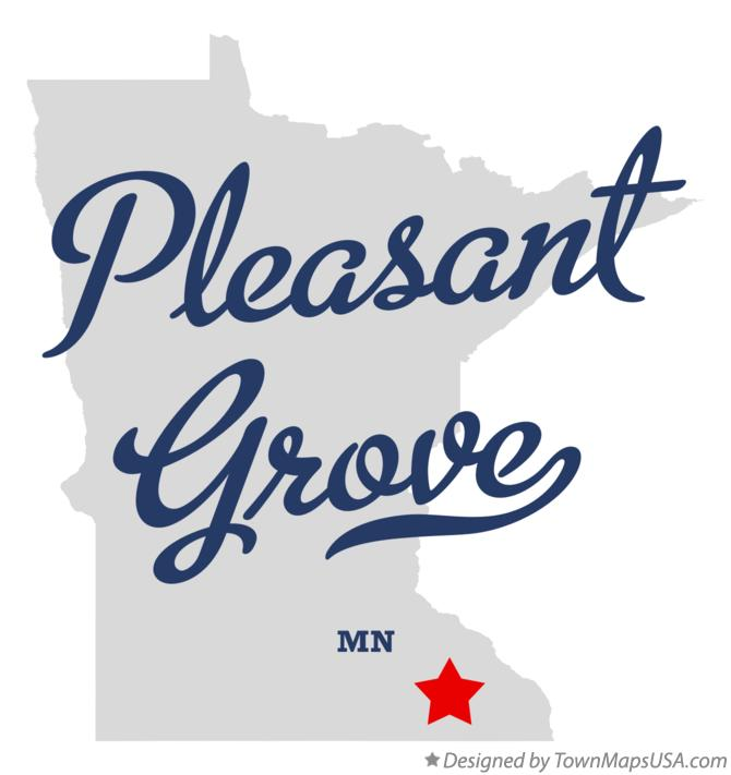 Map of Pleasant Grove Minnesota MN