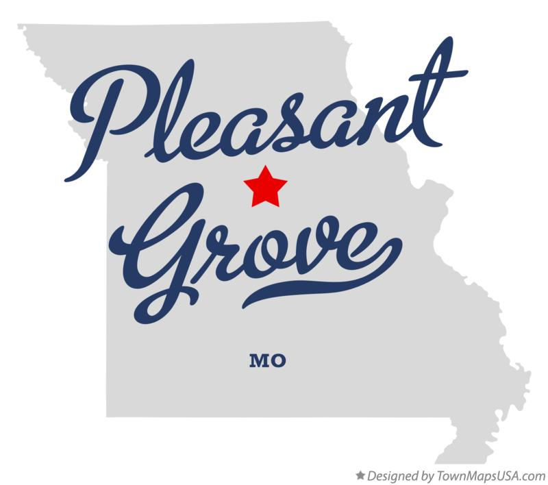 Map of Pleasant Grove Missouri MO