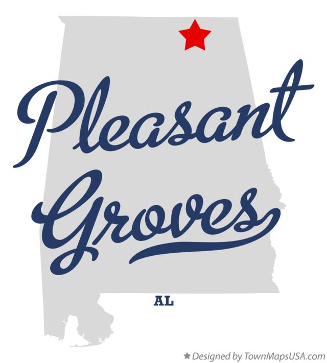Map of Pleasant Groves Alabama AL